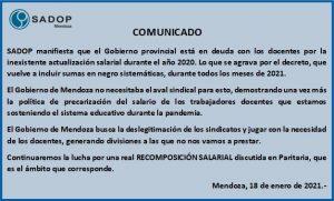 Aumento por Decreto en Mendoza