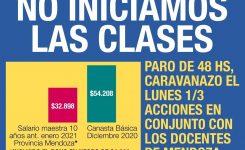 En Mendoza NO INICIAMOS LAS CLASES